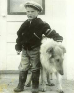 Glenn Sigurdson and Major, his dog