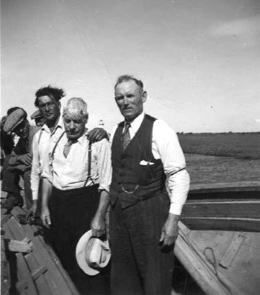 Leifi at right with some of the men with whom he's working