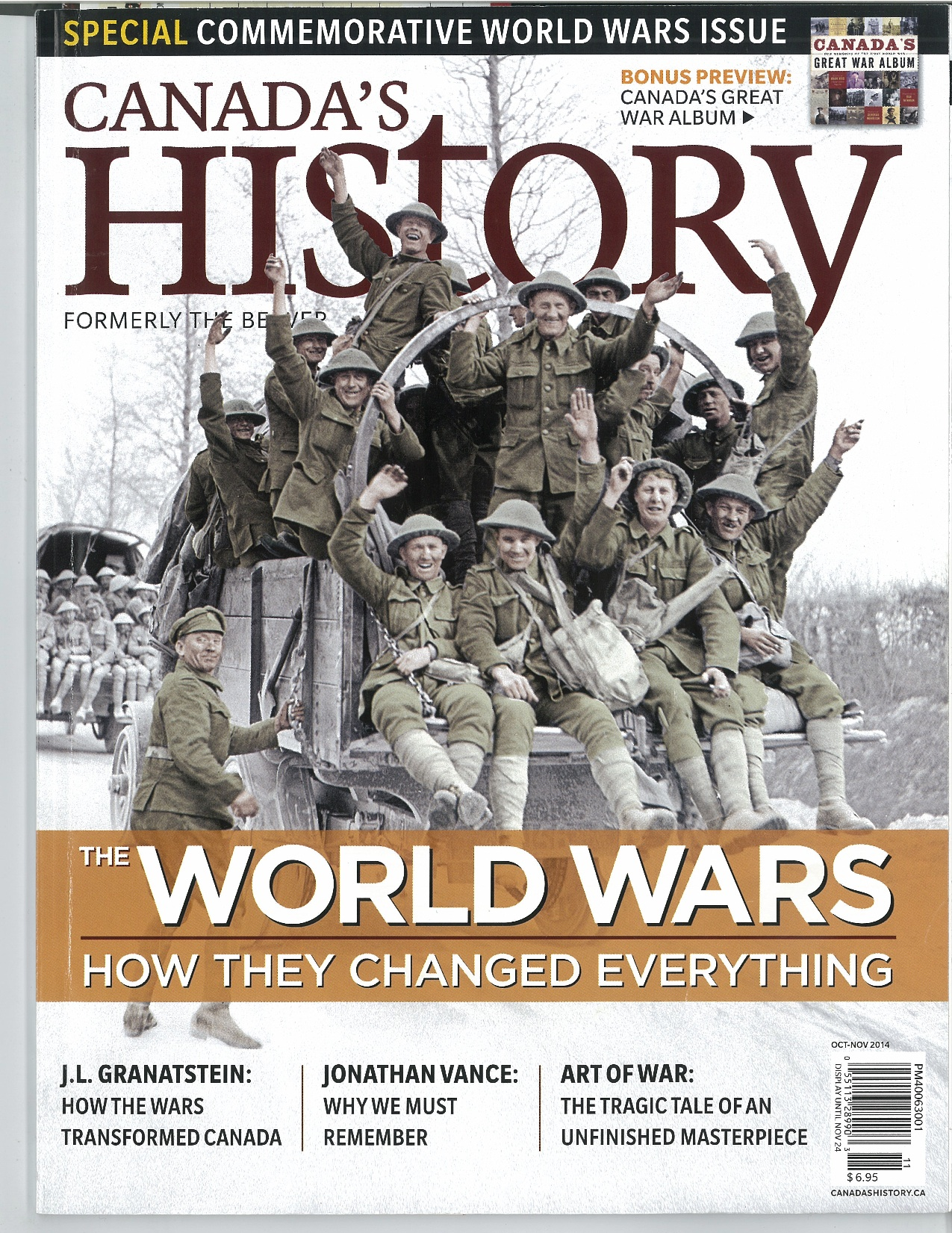 Canada's History Cover