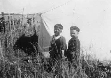 Peter and Glenn - Berens River 1954