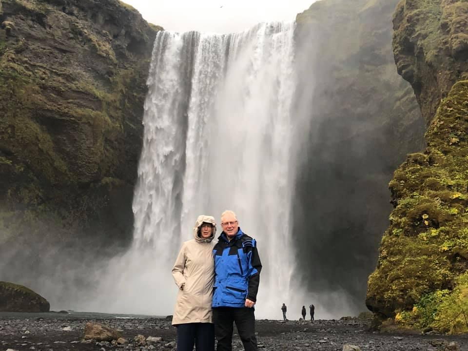 Maureen and Glenn by Skógarfoss